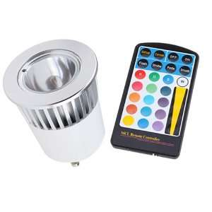 5W 16 color LED Light Bulb GU10 with Remote Control Electronics
