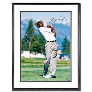 Michael Jordan Signed Golfing 16x20 Framed UDA  Sports