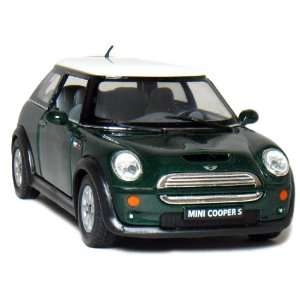 5 Mini Cooper S 128 Scale (Green) Toys & Games