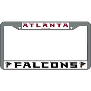 Falcons NFL Chrome License Plate Frame