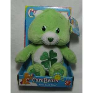 Good Luck Green Care Bear Bean Bag Toy Size 8 inches. Toys & Games