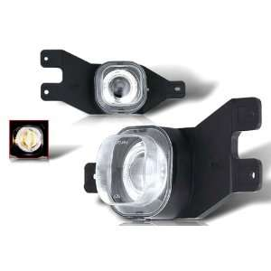 Winjet 99 04 Ford F250 Halo Projector Fog Light   Clear Automotive