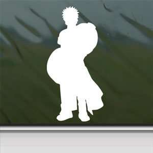 Naruto White Sticker Gaara Car Laptop Vinyl Window White