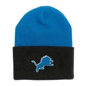 Detroit Lions NFL Reebok Team Apparel Two Tone Cuffed Knit