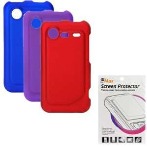 Blue / Purple / Red ) + Clear LCD Screen Protector Film Guard for HTC