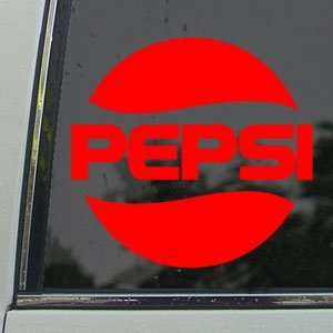 Pepsi Red Decal Car Truck Bumper Window Vinyl Red Sticker