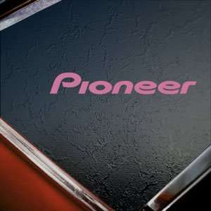 Pioneer Audio Pink Decal Car Truck Bumper Window Pink