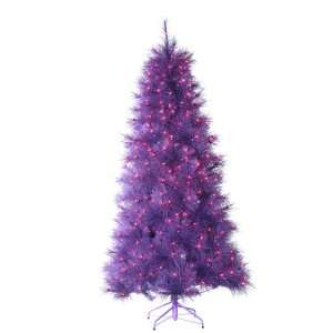 7.5 Pre Lit Purple Cashmere Pine Artificial Christmas Tree