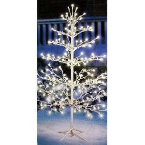 4 Pre Lit White Shimmering Ice Christmas Tree   150 Clear
