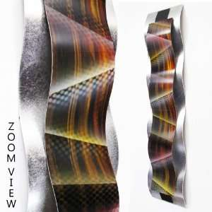 Rhythmic Curves, Abstract with Spots Modern Abstract Metal Wall Art