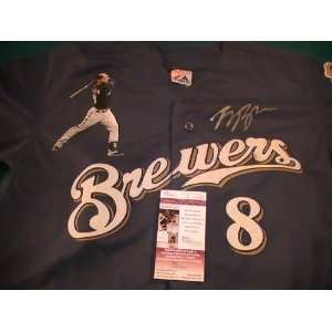RYAN BRAUN SIGNED AUTOGRAPHED JERSEY MILWAUKEE BREWERS COA