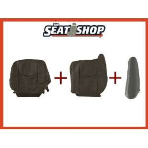 03 04 05 06 Chevy Silverado Graphite Leather Seat Cover