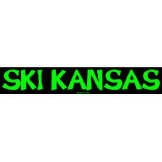 SKI KANSAS Large Bumper Sticker Automotive