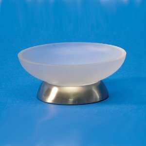 Gold Round Frosted Crystal Glass Soap Dish 92575MD