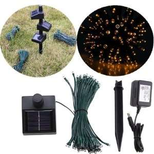 100 LED Connectable Solar String Fairy Lights Yellow w/ AC/DC Adaptor
