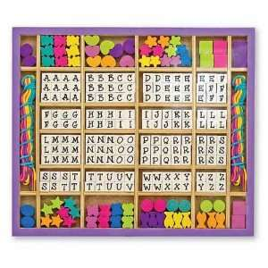 Melissa & Doug Wooden Stringing Beads Toys & Games