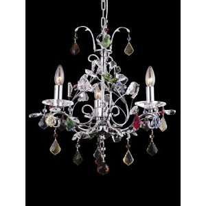 Dale Tiffany Wembley 3 Light Mini Chandelier GH80255