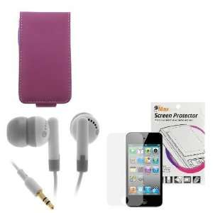 Flip Leather Case + LCD Screen Protector + Universal White Stereo
