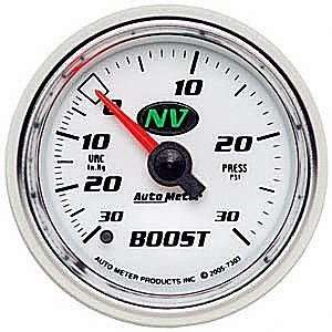 NV 2 1/16 30 in. Hg/30 PSI Mechanical Vacuum/Boost Gauge Automotive