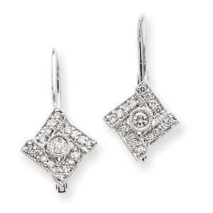 14k White Gold Vintage Diamond Earrings Diamond quality AA (I1 clarity