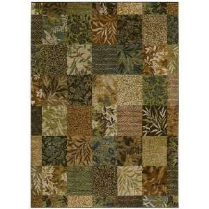 Tommy Bahama Rugs Home Nylon Batik Leaf Light Multi Contemporary Rug