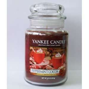 Peppermint Cocoa   22 Oz Large Jar Yankee Candle
