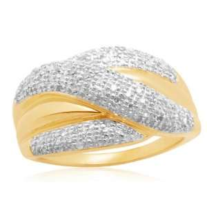 10k Yellow Gold Bridge Diamond Ring (1/2 cttw, I J Color