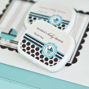 Blue Baby Carraige Mint Tin Favors