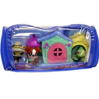 Littlest Pet Shop Figures Playset 2008 Spring Basket with 5 Pets