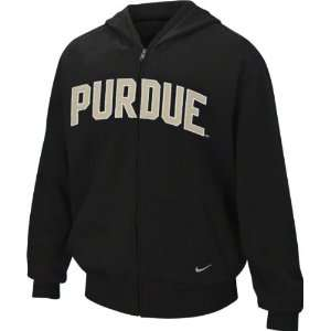 Purdue Boilermakers Youth Black Nike Classic Arch Full Zip Hooded