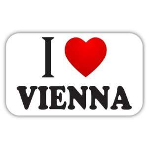 I Love VIENNA Car Bumper Sticker Decal 5 X 3 Everything