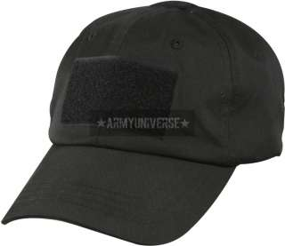 Black Military Low Profile Adjustable Tactical Operator Cap (Item