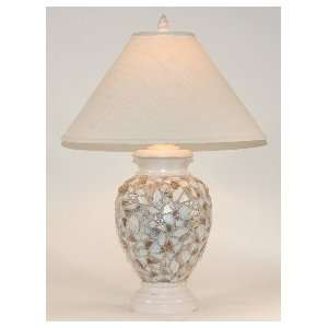 Seashell Mosaic Large Casual Table Lamp