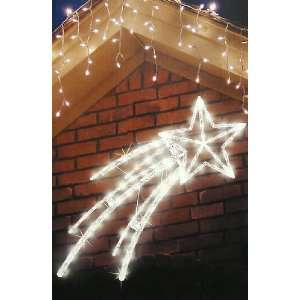 Lighted Twinkling Shooting Star Christmas Decoration   Clear Lights