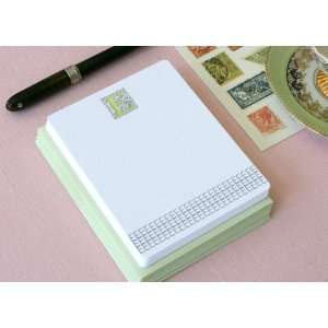 Letterpress Monogram Note Card Set E Health & Personal