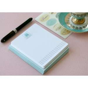 Letterpress Monogram Note Card Set H Health & Personal