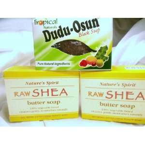 Black Soap & Natures Spirit Raw Shea Butter Soap