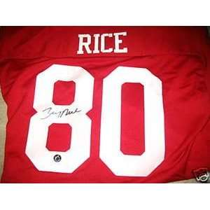 JERRY RICE autographed San Francisco 49ers Jersey Rice