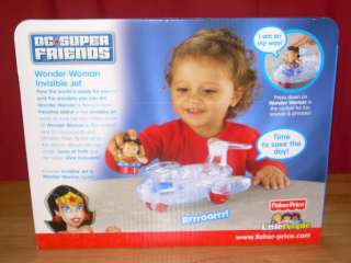 NIB Fisher Price Little People DC Super Friends WONDER WOMAN INVISIBLE